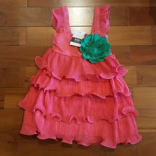 Chiffon dress fuschia (4T)