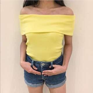 Yellow Off Shoulder Top