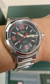 BALL Watch Fireman Racer – 特別版 Police Forces Black / Red Dial , full set , 行貨有保, 全新一樣@@@@抵玩半價平售( seiko citizen hamilton )