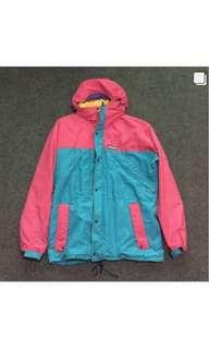 Mont-bell Thinsulate 3M Multicolor Vintage (rare) Hidden Hoodie - Double Zipper