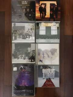 TVXQ and Tohoshinki albums and singles