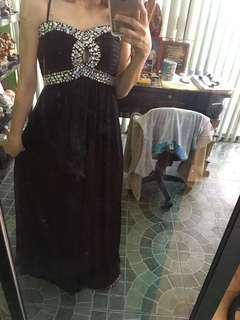 BLACK SEXY EVENING GOWN