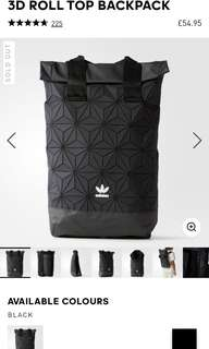 Authentic ADIDAS 3D ROLL TOP BACKPACK