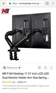 Universal adjustable dual monitor arm
