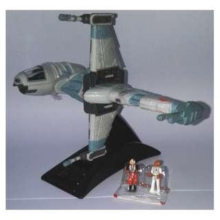 絕版 無包裝 1996年 星球大戰 迷你先鋒 Galoob Star Wars Action Fleet Micro Machines B-Wing Starfighter 1款
