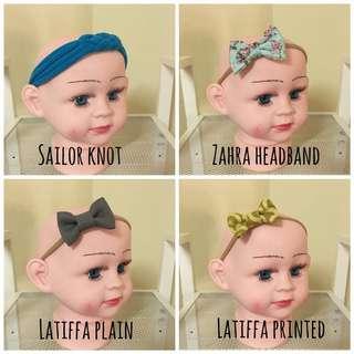 Headband baby//macam macam corak & color