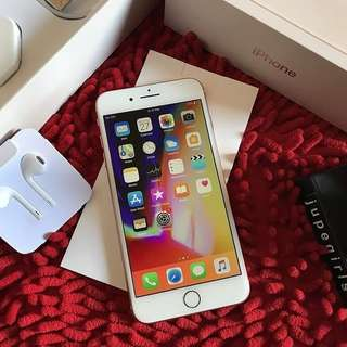 iPhone 8+/8 Plus 64GB Gold FU Fullset Original Garansi Panjang