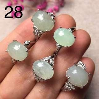 925銀鑲翡翠戒指