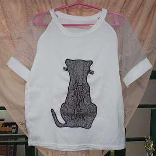 Cat Mesh Korean Top