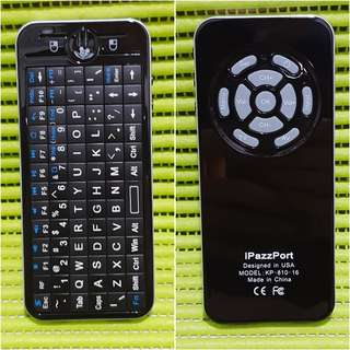 iPazzPort 2.4GHz Mini Wireless Fly Keyboard with IR Remote and Backlight KP-810-16