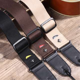Guitar Strap with Pick Compartment