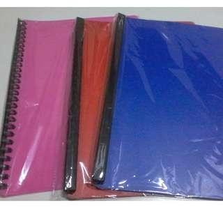 3 Clear book long 20sheets