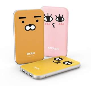Kakao friends Ryan Apeach 充電器 尿袋