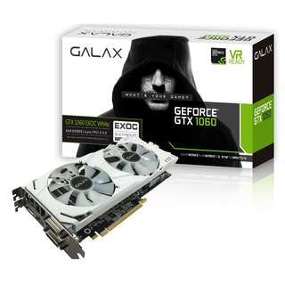 🚚 GALAX GeForce® GTX 1060 EXOC White 6GB (60NRH7DVM3WE)