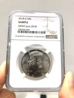 2018 D 50C United States of America 🇺🇸 Half Dollar NGC