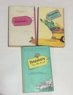 3 Shopaholic books by Sophie Kinsella