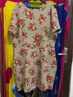 Dress bunga Bigsize