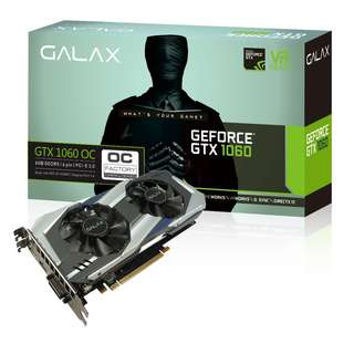 🚚 GALAX GeForce® GTX 1060 OC 6GB (60NRH7DSL9OC)