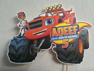 Blaze and the Monster Machines Birthday Cake Topper Centrepiece