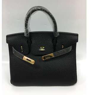 House of hello Togo print Birkin bag in size 25 black