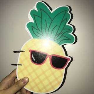 NOTEPAD/NOTEBOOK bentuk pineapple