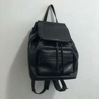 Charles & Keith Leather Backpack