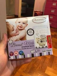 Autumnz 5oz/150ml Breast Milk Storage Bag
