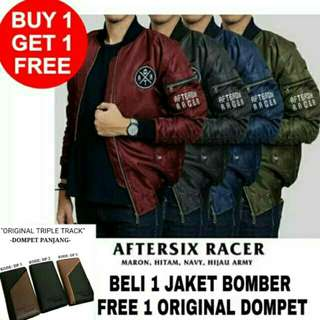 Buy 1 get 1 free ongkir jaket bomber waterproof bolak balik