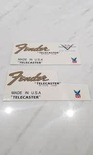 Fender Telecaster decal