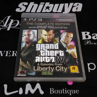 PS3 Game GTA IV Grand Theft Auto: Episodes from Liberty City