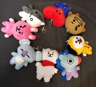 [PO] BTS BT21 Plush keychain / Bag chain