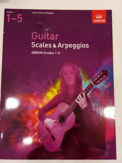 ABRSM Guitar Scales & Arpeggios ABRSM Grades 1-5 Book/Score (CLEARANCE!!)