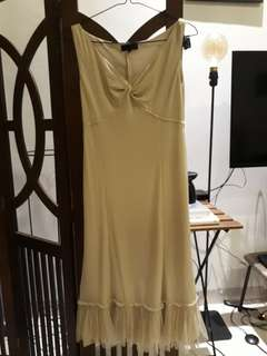Mid-length Dress U-can-see Crem