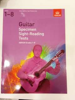 ABRSM Guitar Specimen Sight-Reading Tests Grades 1-8 Book/Score (CLEARANCE!!)
