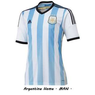 jual jersey bola GRADE ORI Argentina Home World Cup 2014