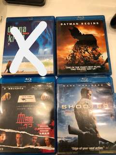 Blu Ray live in Rio,Batman begins,exam,shooter