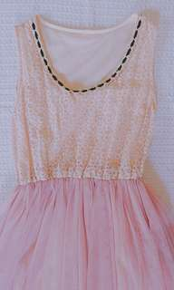 Old Rose Tulle Dress