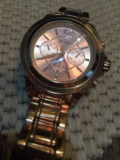 Original XOXO rose gold watch