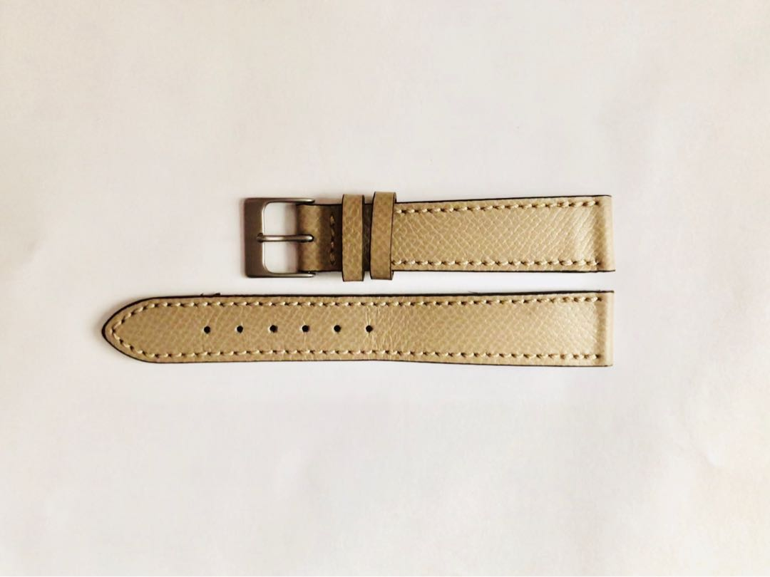 11a1c7c7f12 18mm Hodinkee leather watch strap - light grey beige