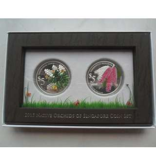 2015 Native Orchids Of Singapore 2-In-1 Coin Set