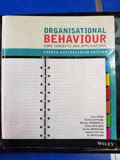 Organisational Behaviour 4th Edition Murdoch Kaplan
