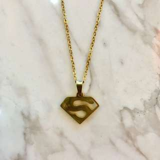 Stainless Superman Necklace