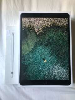 Apple 10.5 Inch iPad Pro Wi-Fi 256GB - Space Grey apple pen