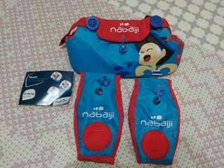 nabaiji 兒童泳圈 手臂圈  浮圈 活力藍 近全新