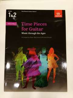 ABRSM Time Pieces for Guitar Volume 1 Grades 1&2 Book/Score (CLEARANCE!!)