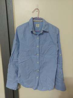 藍色長袖襯衫(尺寸:155/75A)