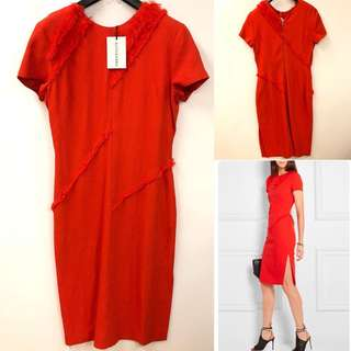 斯文裙 New Altuzarra red dress size 42