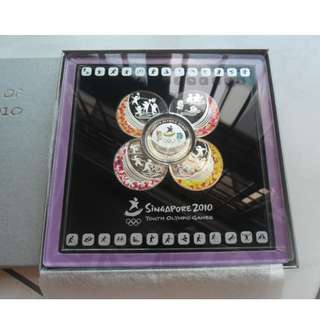 2010 Singapore Youth Olympic Games Coin Set