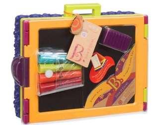 BN New B.Toys Take It Easel Portable Tabletop Art Magnetic Blackboard Chalk