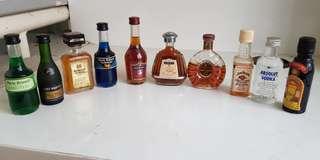Miniture liquors.